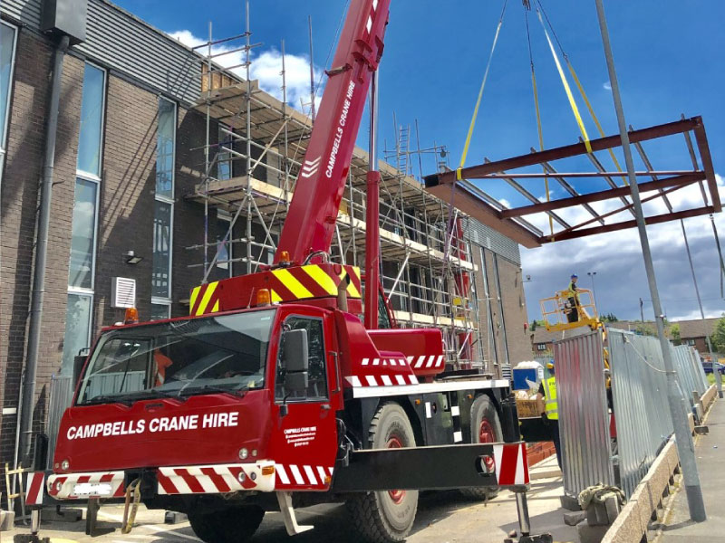 Oldham Mobile Crane Hire from Campbells Crane Hire